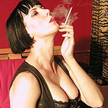 Smoking katja  tall leggy fetish beauty relaxes and puffs her cigarette. Tall leggy fetish beauty relaxes and puffs her cigarette