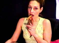 Tit flasher  lusty older gina smokes a cigar and shows off her breasts. Lusty older Gina smokes a cigar and shows off her boobs