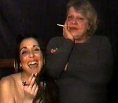 Holli and her mom  hot holli chainsmokes with her mom. Hot Holli chainsmokes with her mom