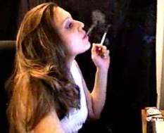 Ginas webcam  gina smokes and plays with her hair in front of her webcam. Gina smokes and plays with her hair in front of her webcam