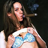 Huge stogie  dirty schoolgirl sucks on a giant cuban. Dirty Schoolgirl blowjob on a giant cuban